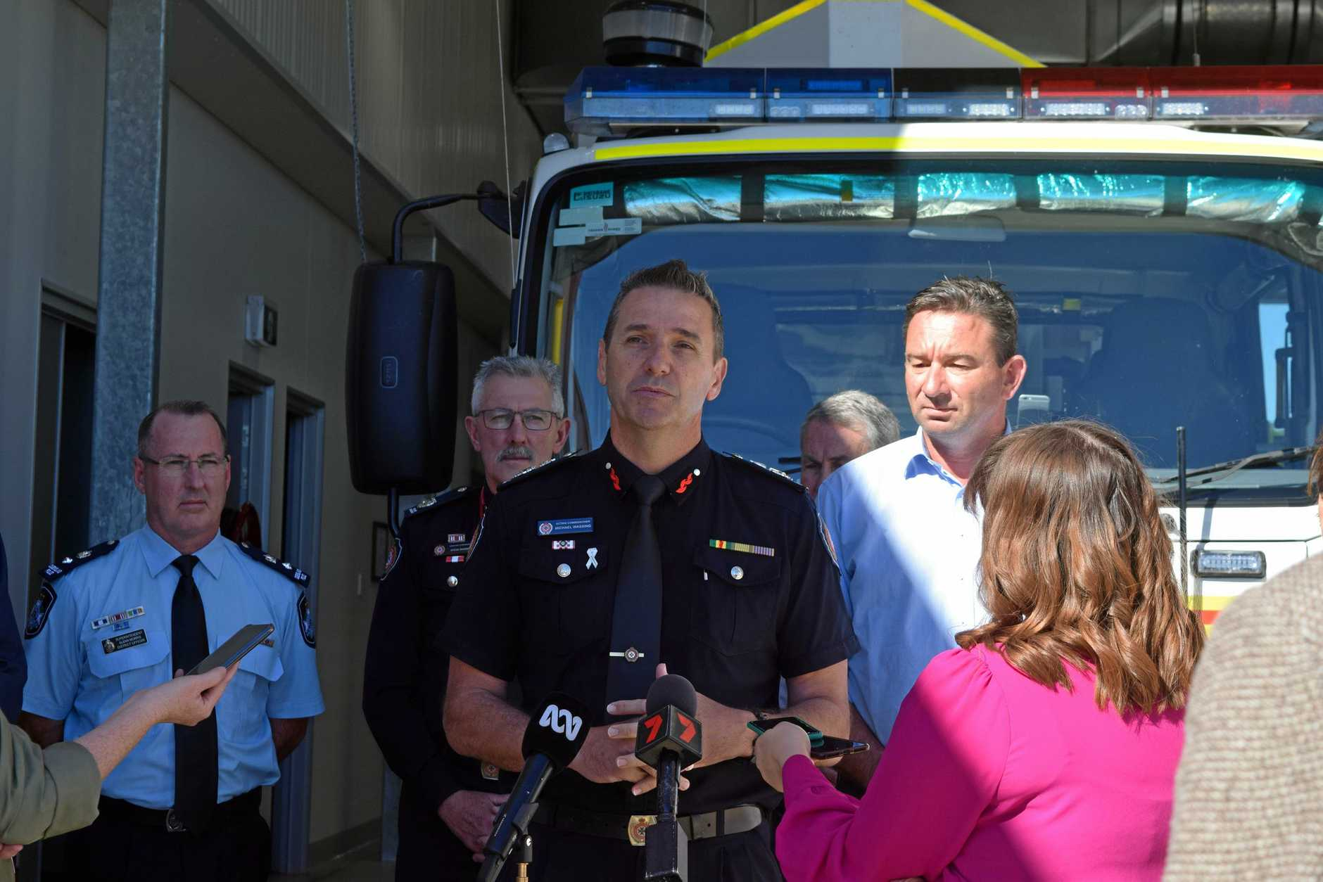 The Queensland Deputy Commissioner, Mike Wessing at the Queensland Fire Department Emergency Services station in Mackay.