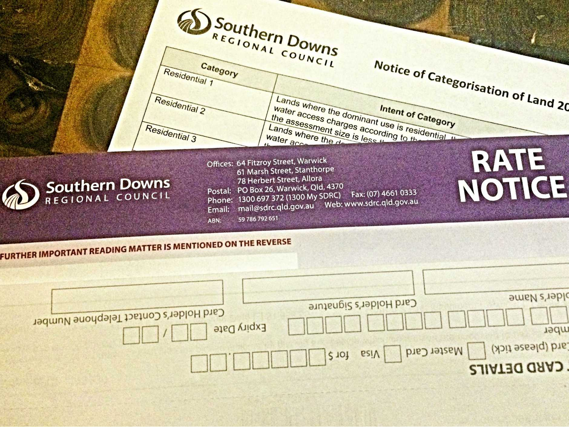 Rates notices should be arriving in your mail box as we speak.