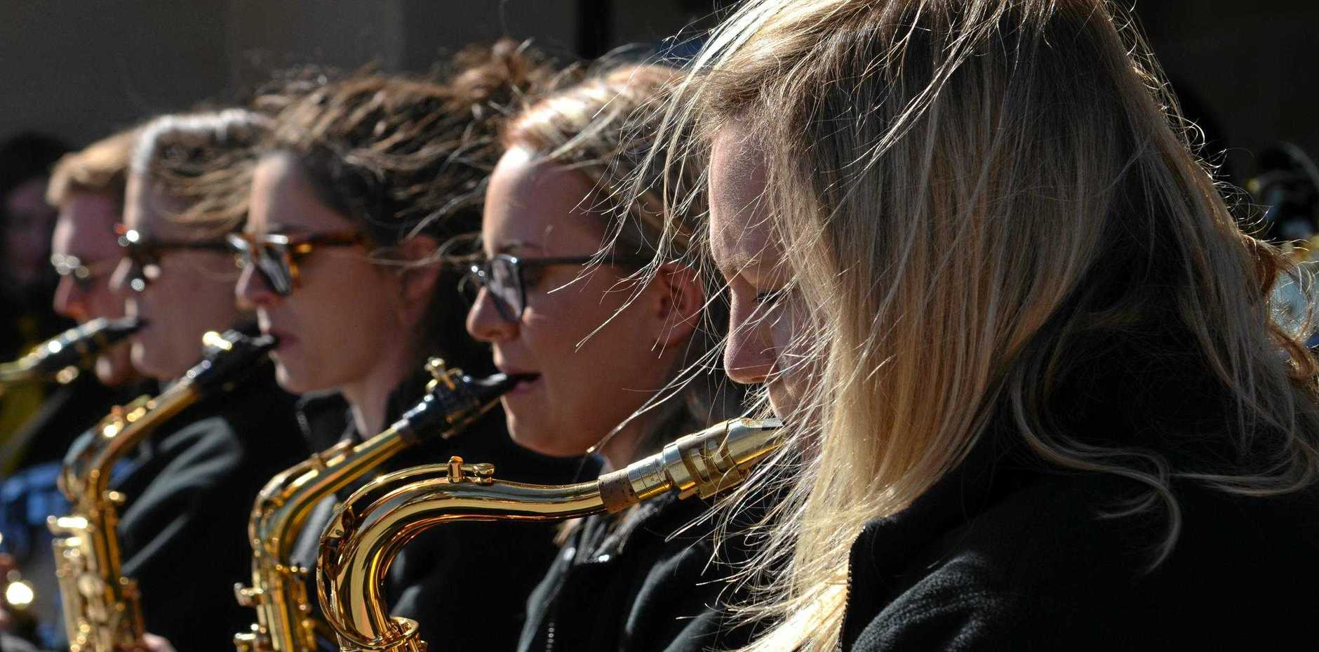 GETTING OUT: The Kalamunda Youth Swing Band jazzes up over the weekend.