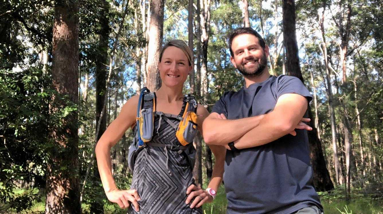 Lisa Marshall and Luke Edwards are hiking over 400km in the National Trust of Australia Q10 Great Walks Challenge.