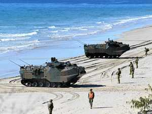 VIDEO: Amphibious assault played out in military exercise