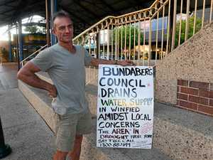 One man's CBD protest against water use in drought