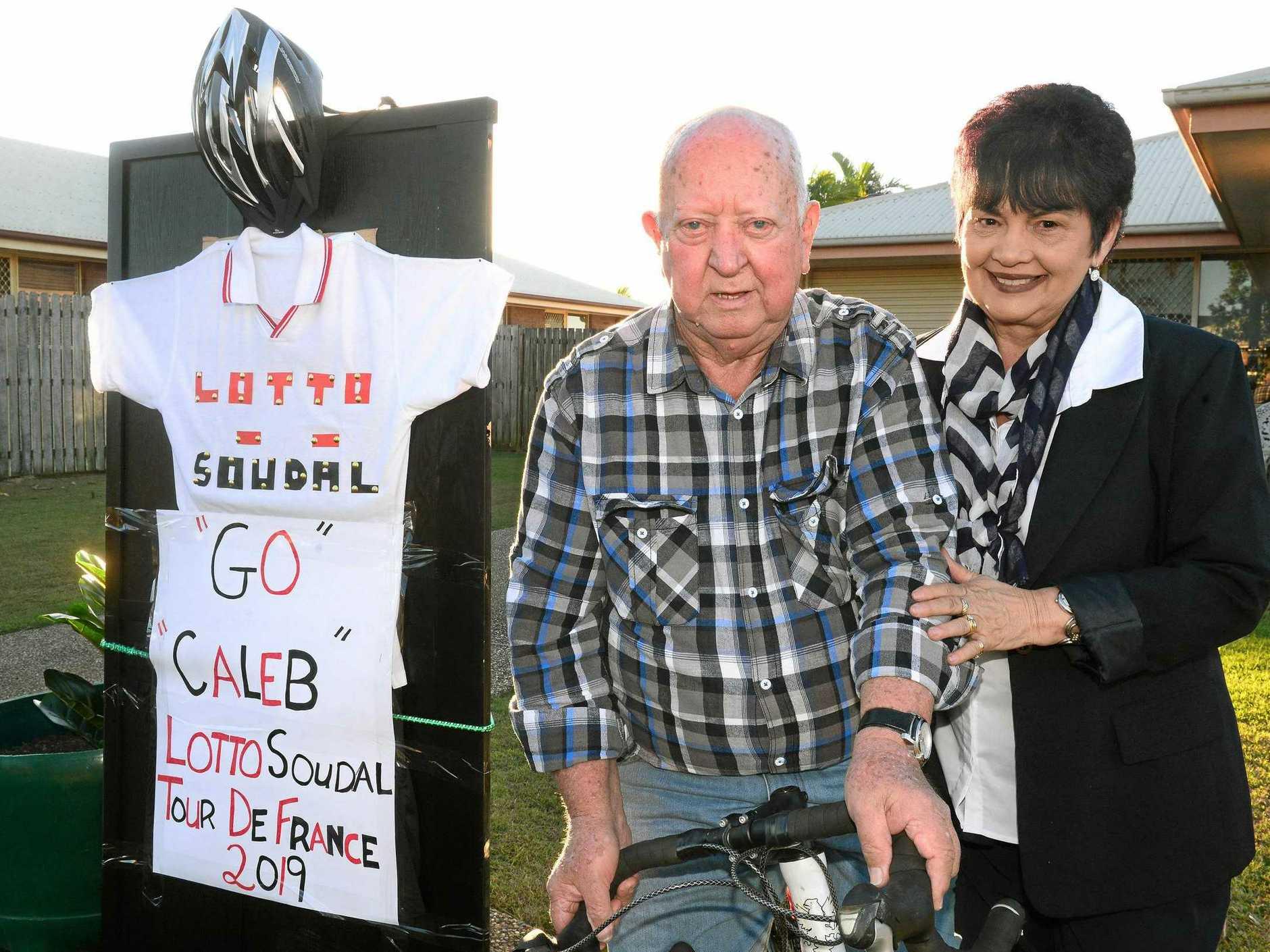 FAMILY SUPPORT: Tour de France cyclist Caleb Ewan's grandparents Brian and Marie Ewan.