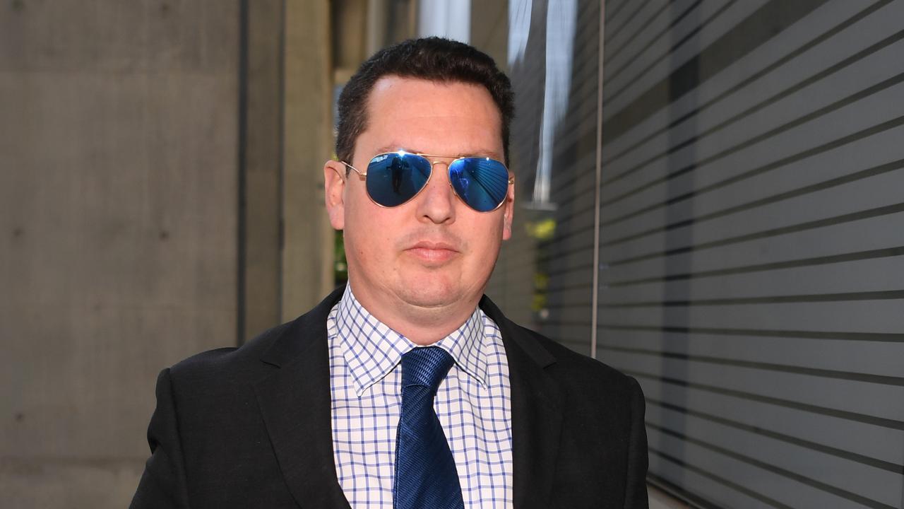 Ipswich lawyer Cameron McKenzie at court in Brisbane this week. Picture: Dan Peled/AAP