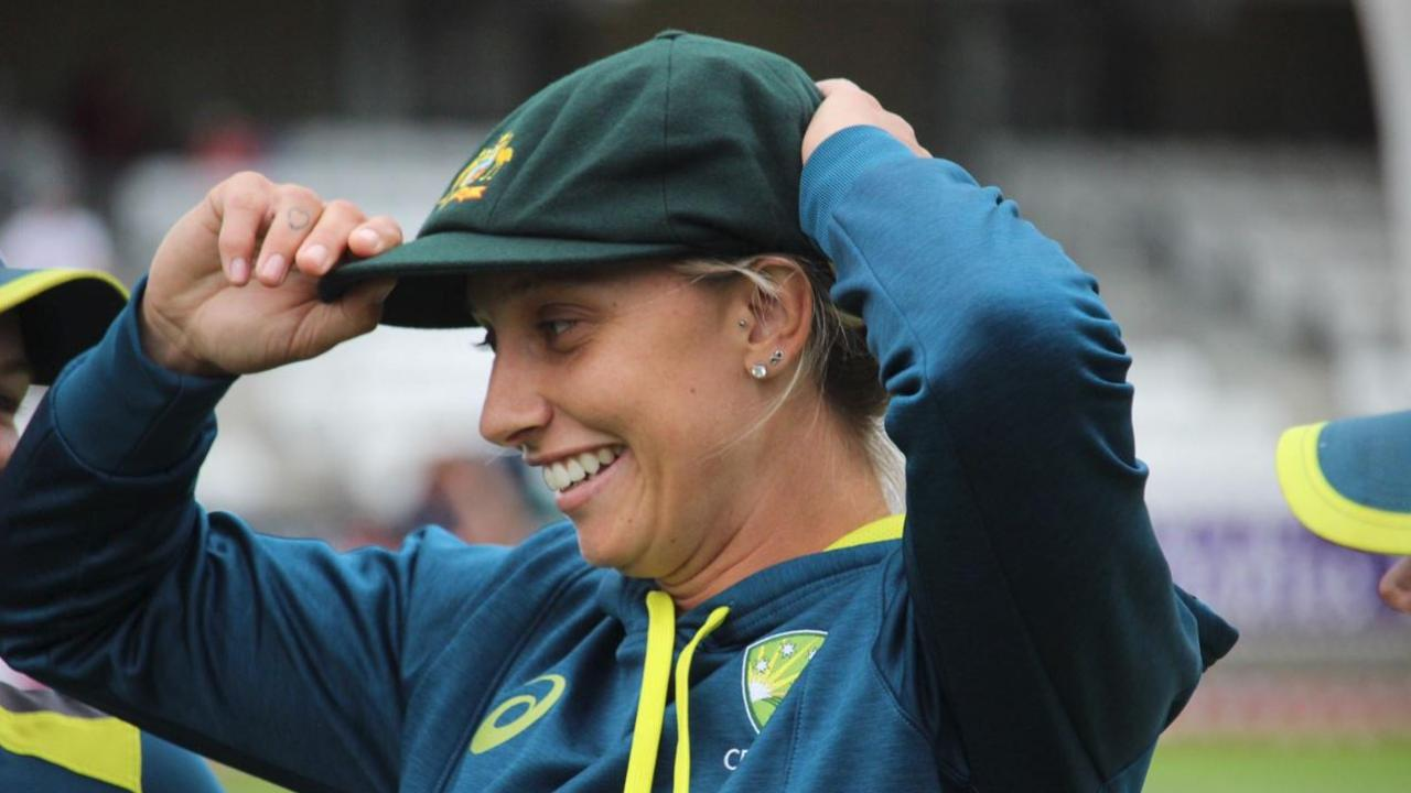 Ashleigh Gardner became just the third Indigenous Australian to wear the Baggy Green. Picture: Twitter/Cricket Australia