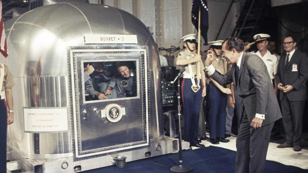 President Richard Nixon gives an