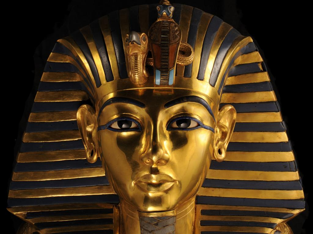 King Tutankhamun's gold death mask. Picture: Supplied/The Egyptian Museum, Cairo