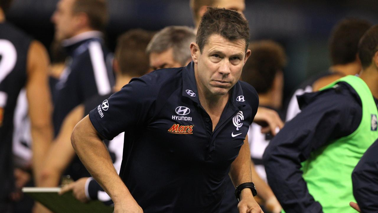 Brett Ratten was sacked by the Blues in 2012. Picture: Wayne Ludbey