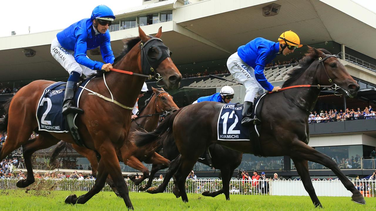 Kiamich (right) and Microphone will be among Godolphin's spring contenders. Picture: Getty Images