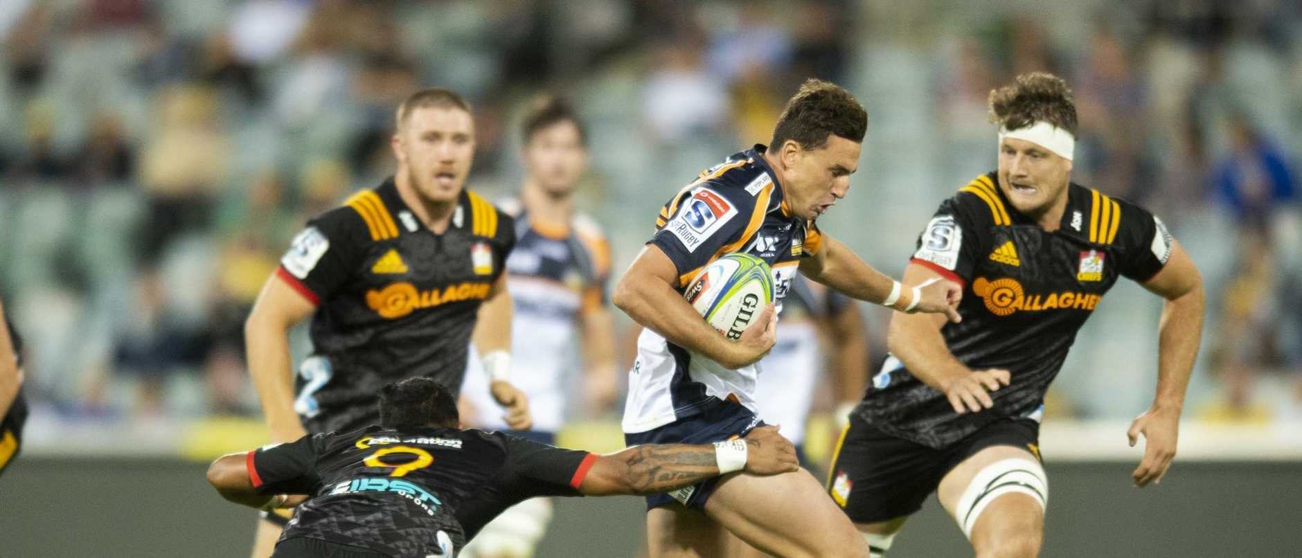 Brumbies speedster Tom Banks has been selected to fill the void left by Israel Folau. Picture: AAP Image/Rohan Thomson