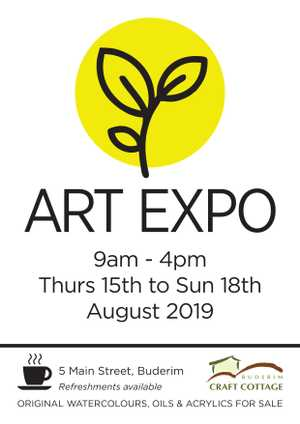Art Expo Exhibition - Buderim Craft Cottage 5 Main Street Thursday 15th - Sunday 18th August Opening hours 9am - 4pm Free entry, refreshments available