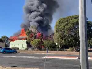 Queensland's oldest school in flames