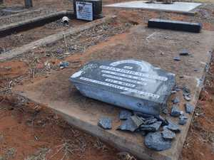 Cemetery smashed by vandals: Families want answers