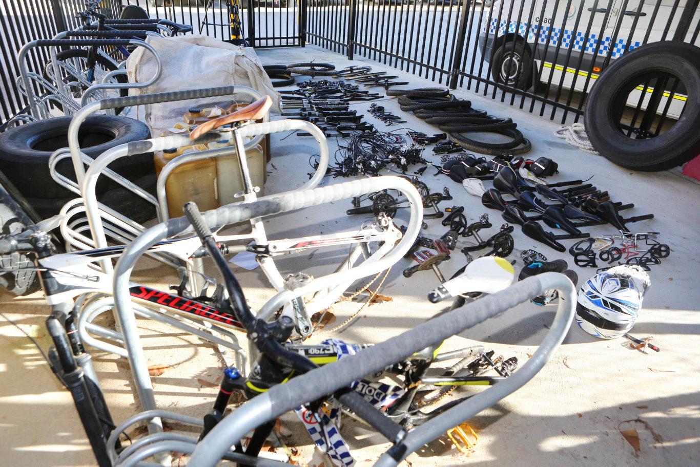 Police uncovered a host of stolen motorcycles and property after a search of a Dirty Creek Rd property this week.