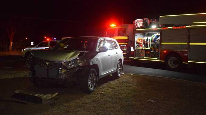One sent to hospital after crash