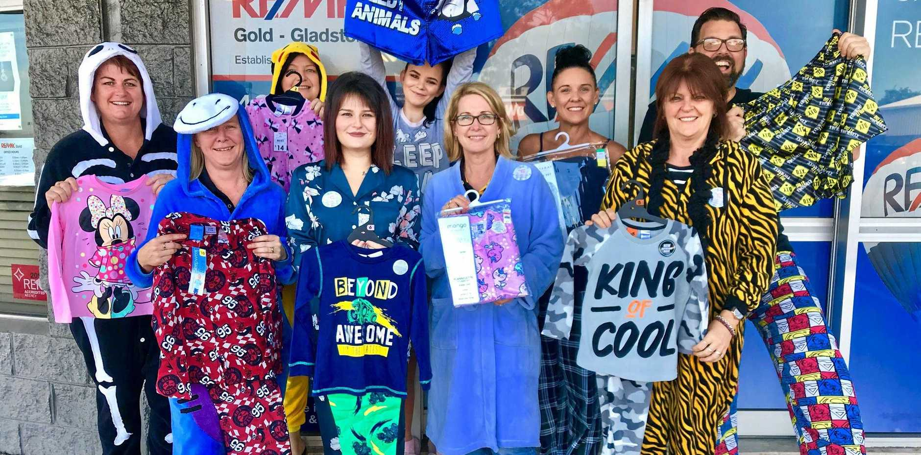 RE/MAX Gold Gladstone wear pyjamas to work for Pyjama Day 2018 for The Pyjama Foundation