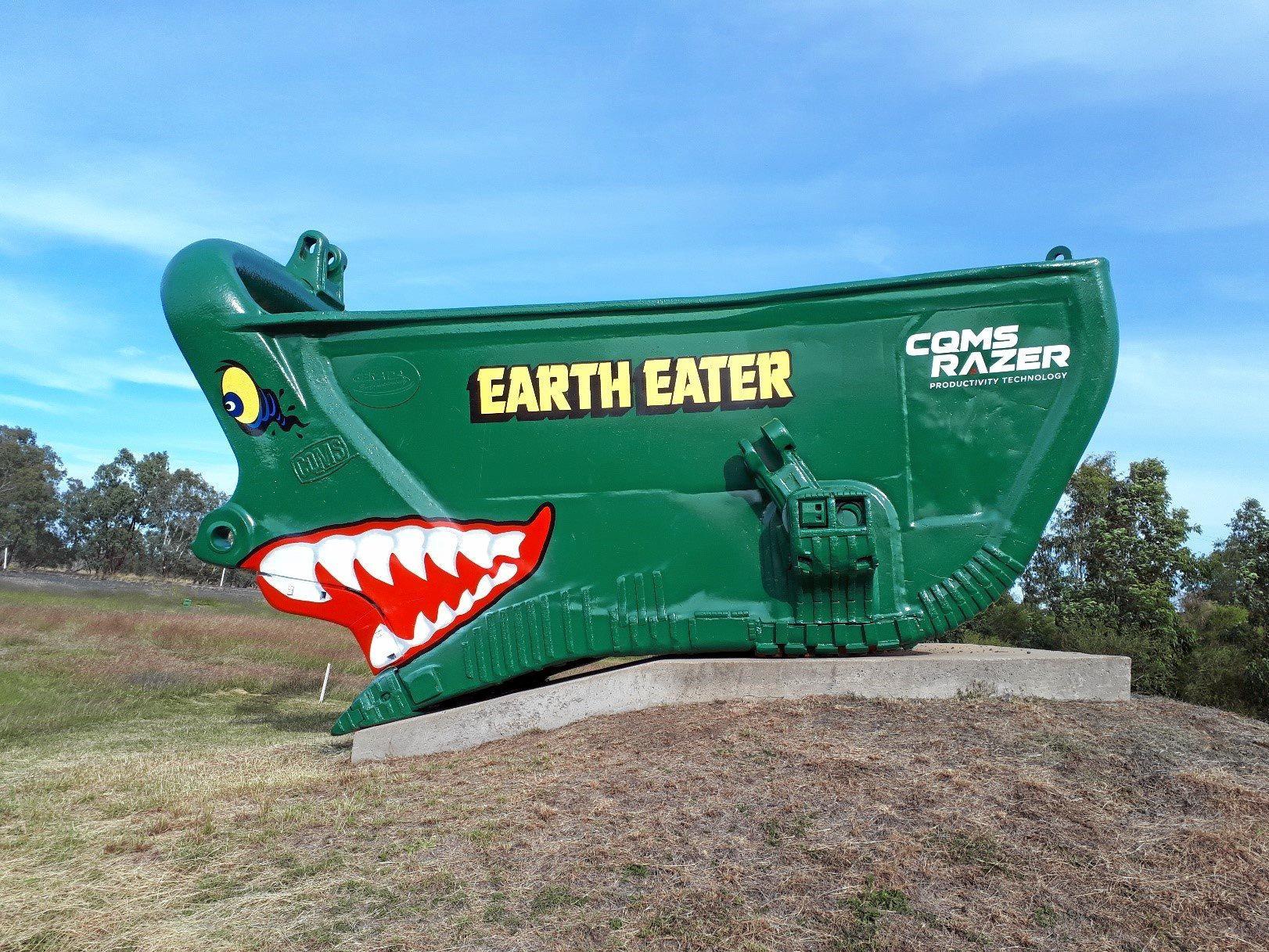 LANDMARK RESTORED: The refurbished EarthEater again shines as a landmark of mining history in Capella.