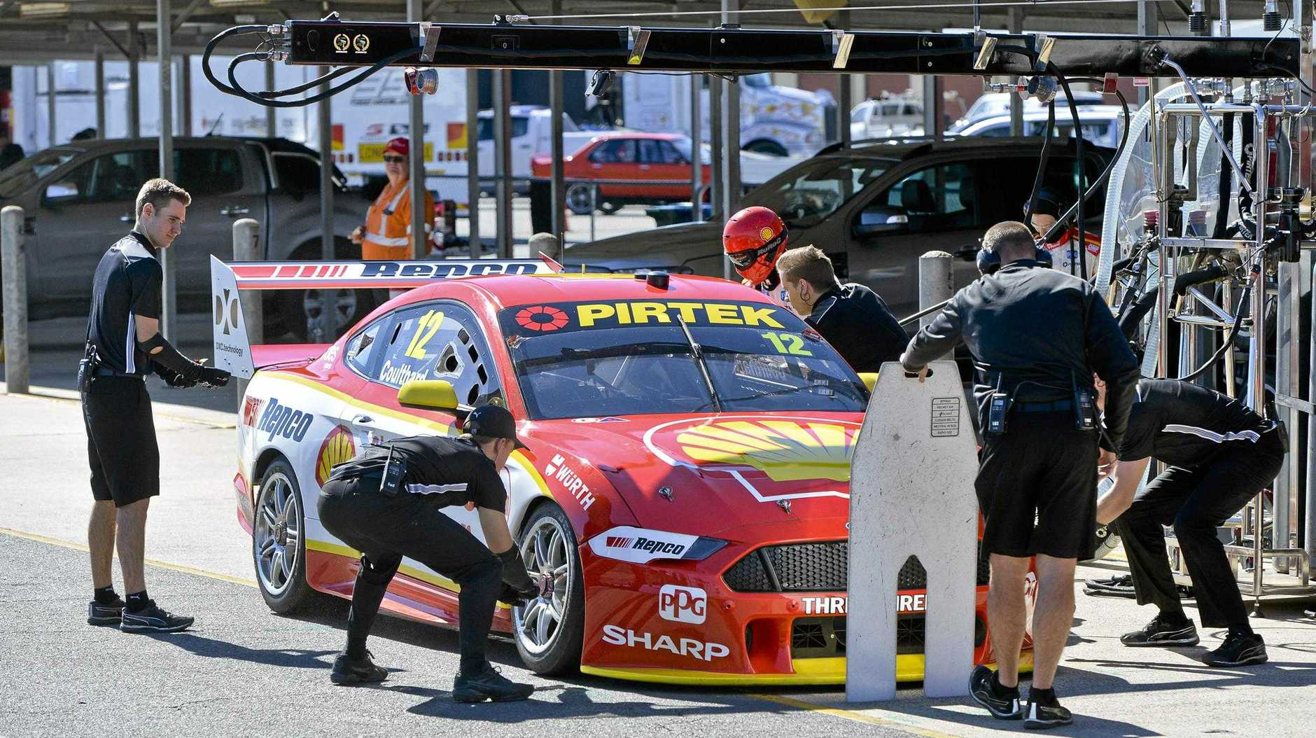 The excitement is building for next weekend's Ipswich SuperSprint series with top drivers like Fabian Coulthard undergoing testing at Queensland Raceway on Thursday.