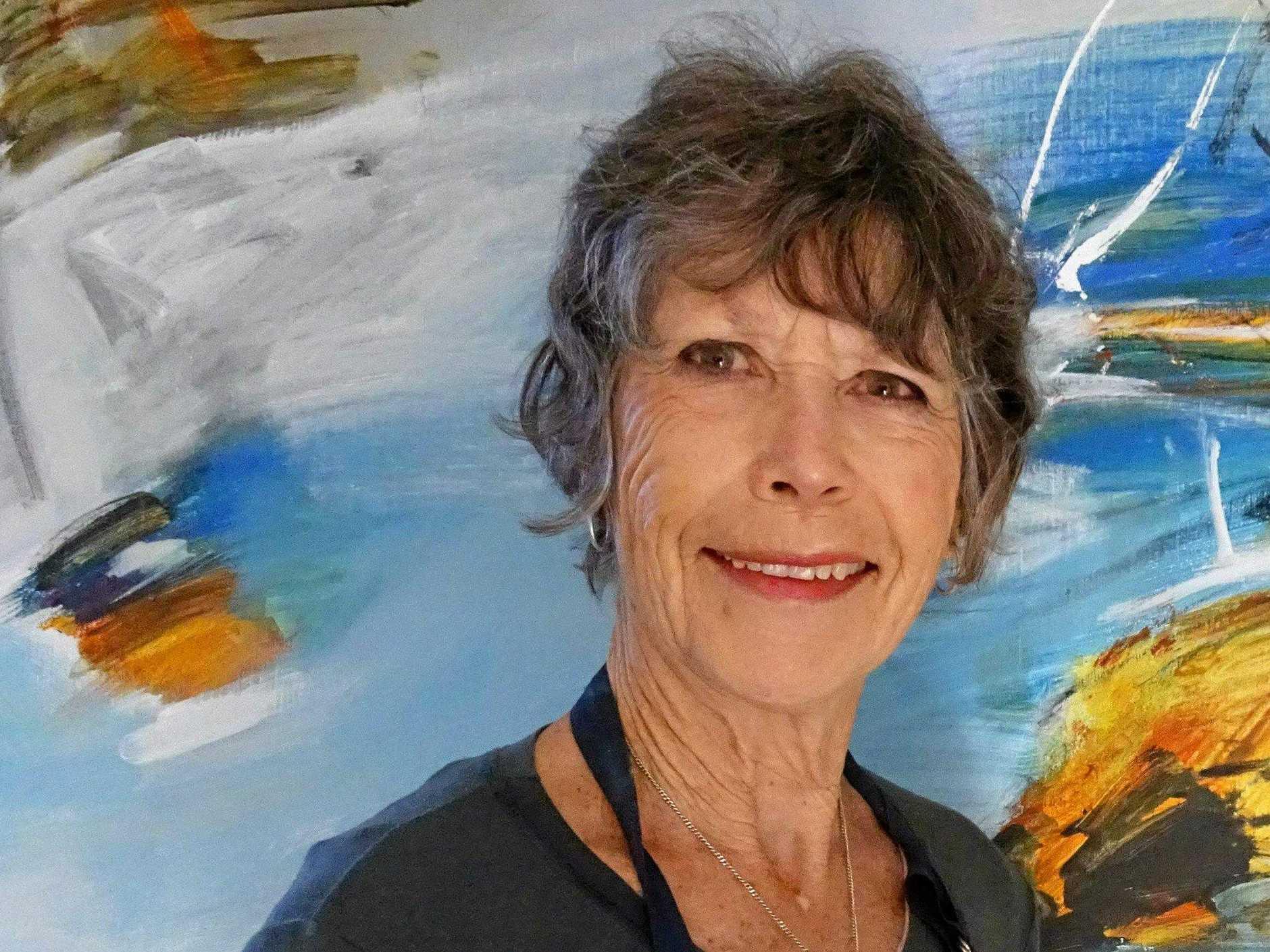 Pam Walpole in her studio.