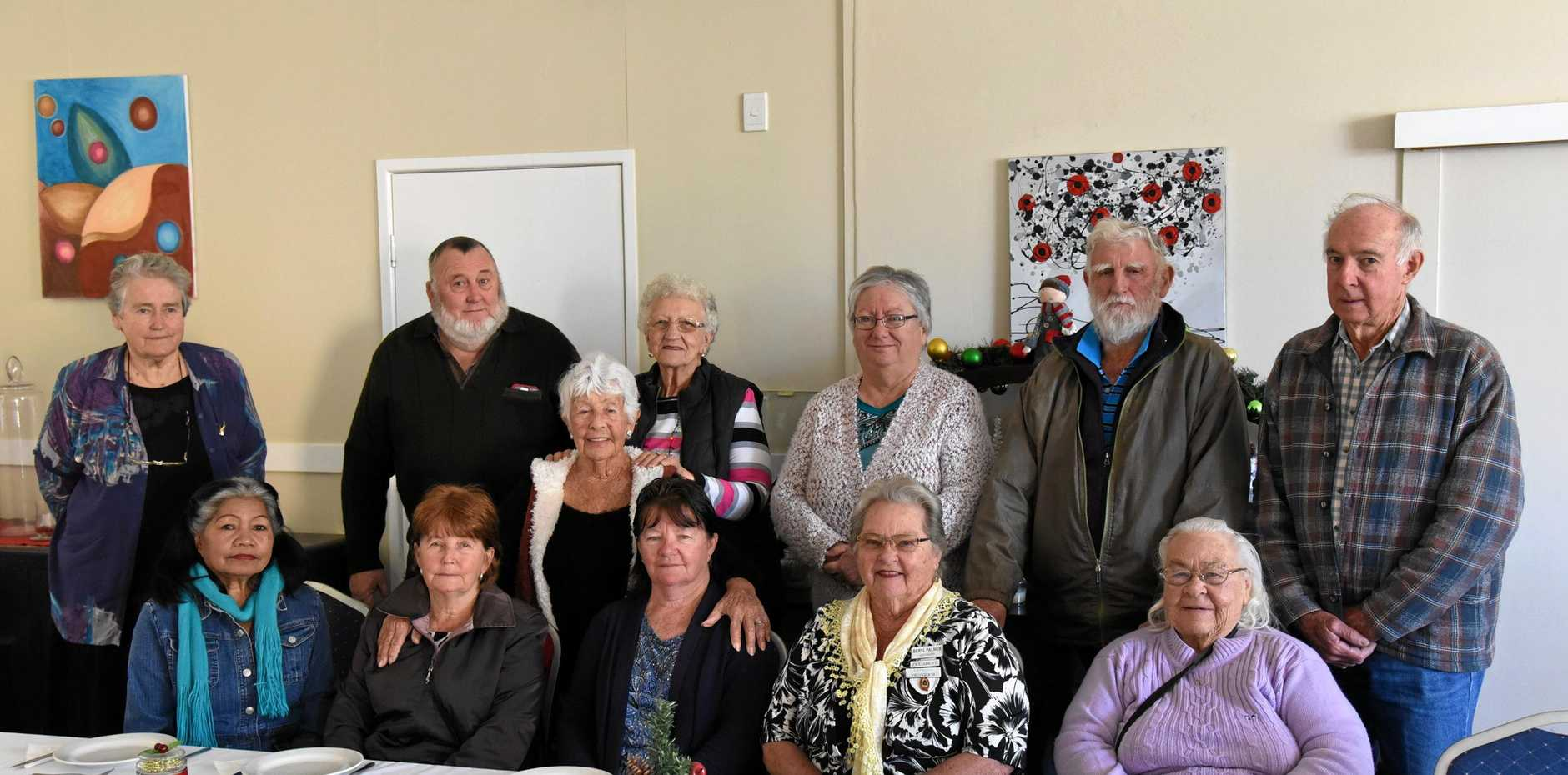 STICKING TOGETHER: Gayndah Senior Citizens at their Christmas in July party at the Golden Orange Hotel Motel on Thursday, July 18.