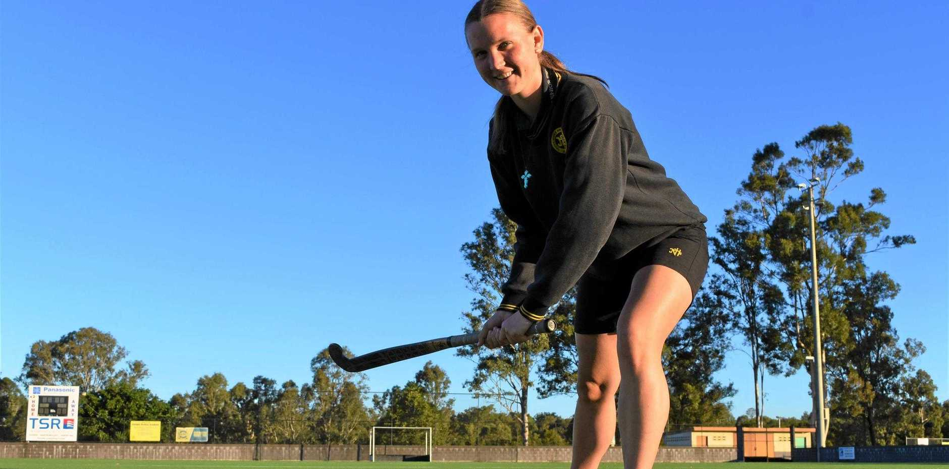 BIG DREAM: Gympie athlete Jess Wilcox's  goal  is to play for her state.