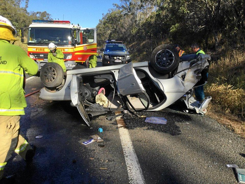 A 18-year-old woman has been charged with driving offences following a car rollover on the Bruce Hwy in Torbanlea on July 15.