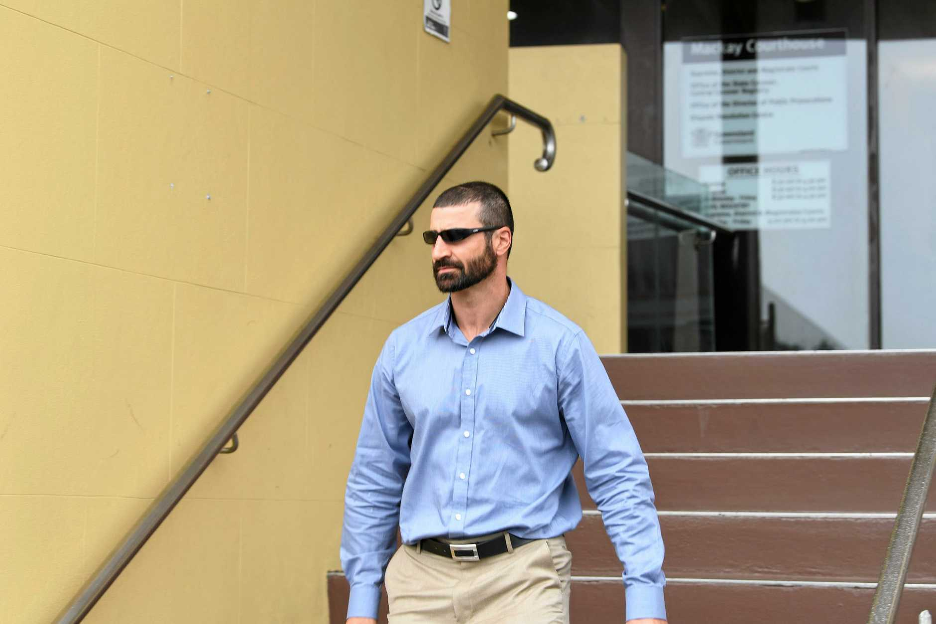 John Peros leaves the Shandee Blackburn Inquest on day four.