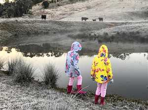 Winter wonderland: Frost blankets Eungella as temps plummet