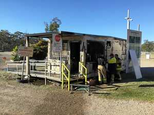 SHUT DOWN: Thieves set fire to council dump office