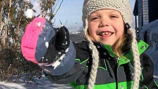 Brave Mia beats cancer, has dream come true in snow