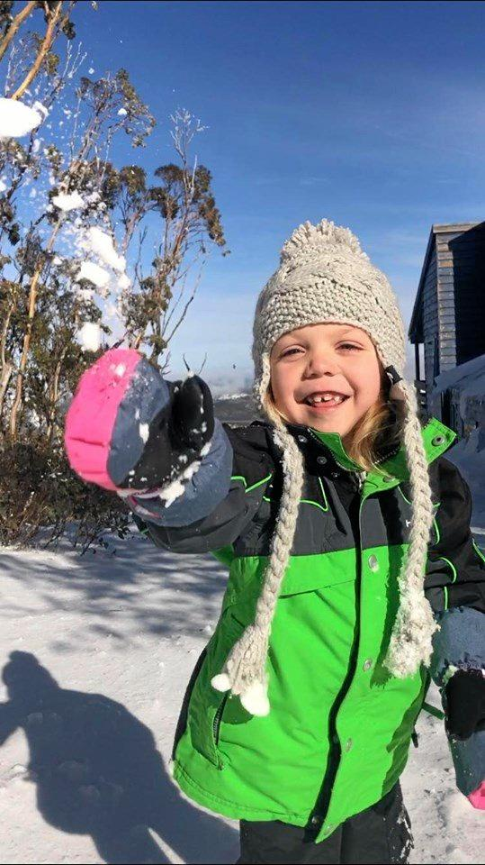 DREAMS COME TRUE: Mia Pearce has had her wish of a white Christmas come true with the help of Make A Wish Foundation.