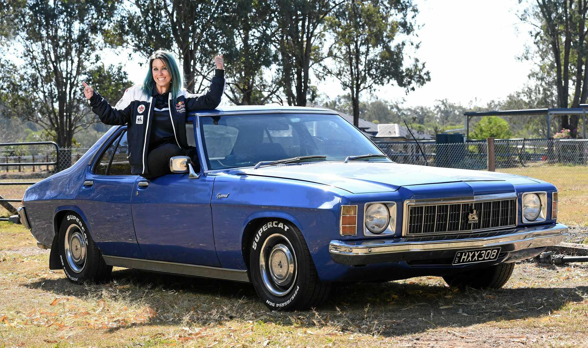 CLASSIC: Holden racing fanatic Chaia Kuss is calling on the Red Army to turn out in force at the Ipswich SuperSprint.