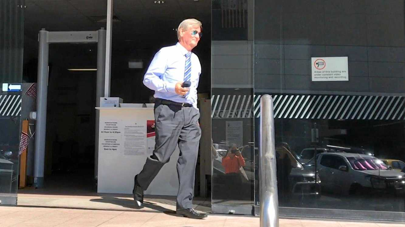 Buderim man Kenneth Ralph Ernst leaves Maroochydore Court House after a 2017 appearance.
