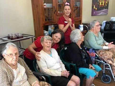 SINGING SENSATION: Residents and staff at the Tabeel Aged Care Facility soak in the barbershop sounds at one of their special