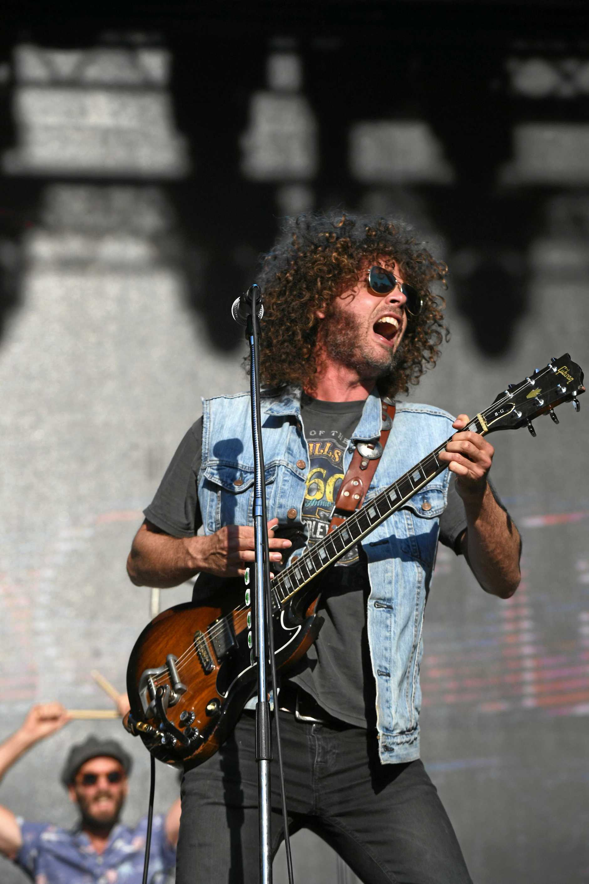 Wolfmother perform at Splendour in the Grass 2019 in Byron Bay.