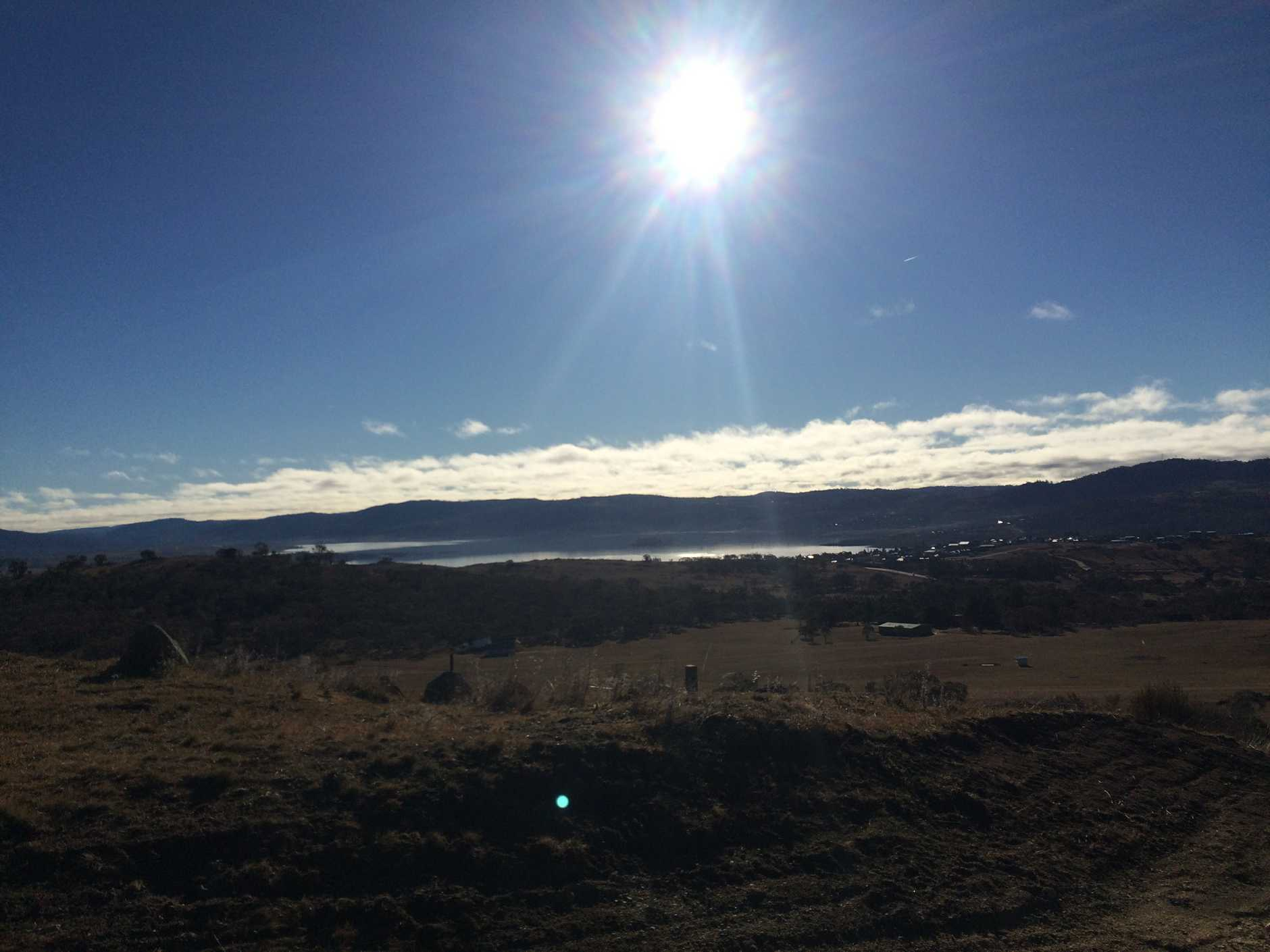 A view of Jindabyne from the road into the Adventist Alpine Village