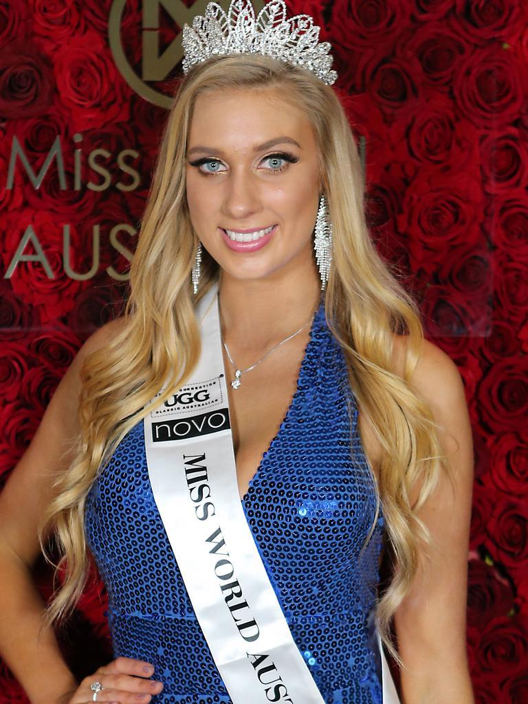 Sarah Marschke, 20, wins Miss World Australia at Palazzo Versace, Gold Coast. AAP Image/Richard Gosling