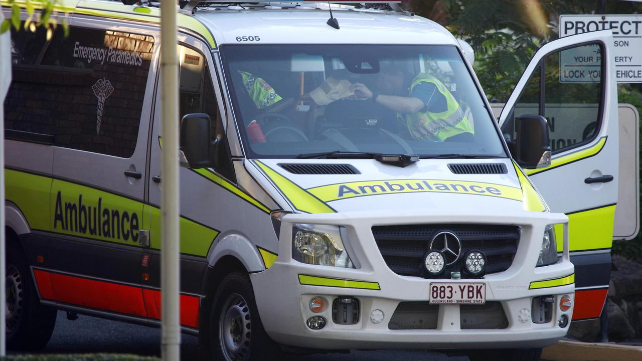 Ambulances and removal trucks leave the Earle Haven retirement complex. Picture: Tertius Pickard
