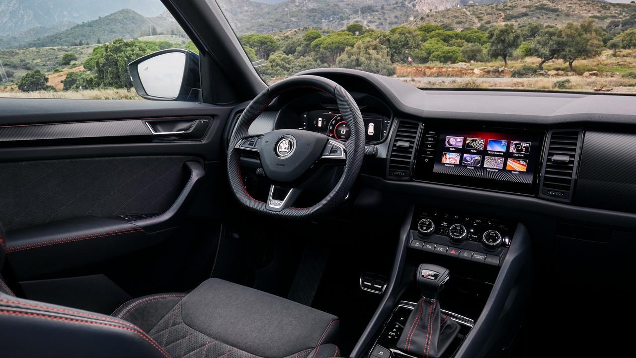 The Kodiaq RS has a plush interior.