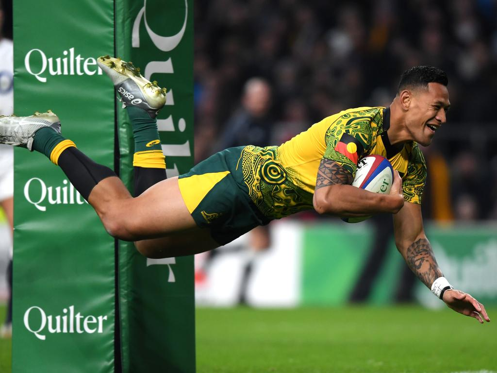 Israel Folau's scoring ability will be missed by the Wallabies.
