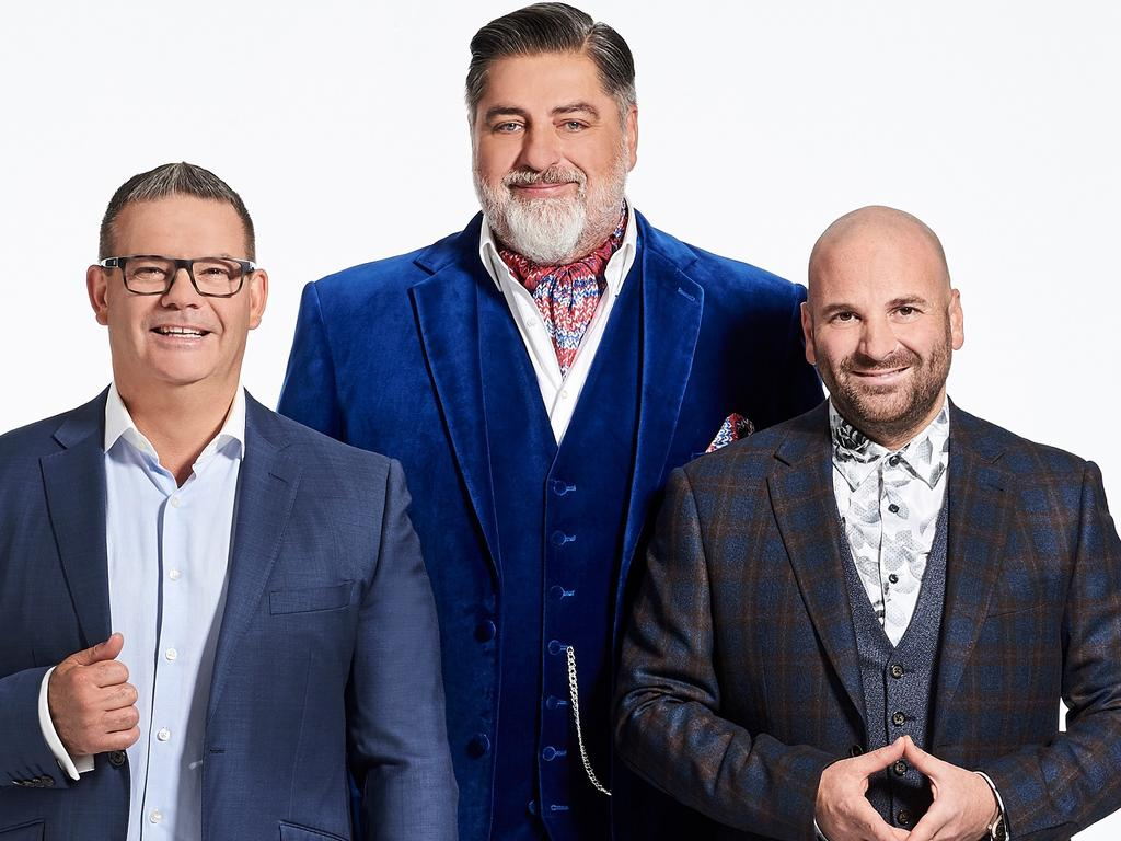 Gary Mehigan, George Calombaris and Matt Preston from MasterChef. Picture: Supplied/Ten