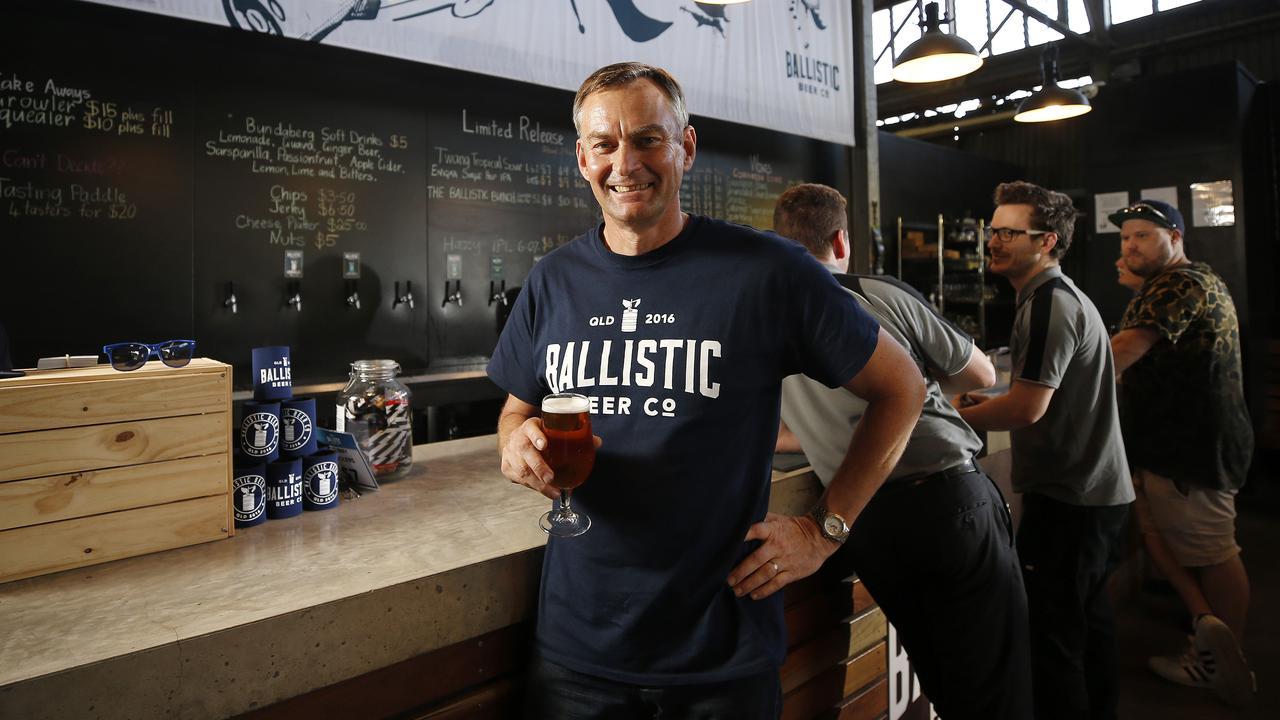 David Kitchen posing at Ballistic Brewing, Salisbury. (AAP Image/Josh Woning)