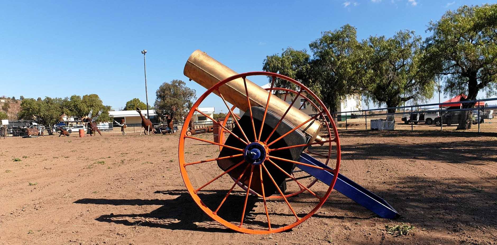 A cannon shaped fire drum will be just one of many metallic marvels on display.
