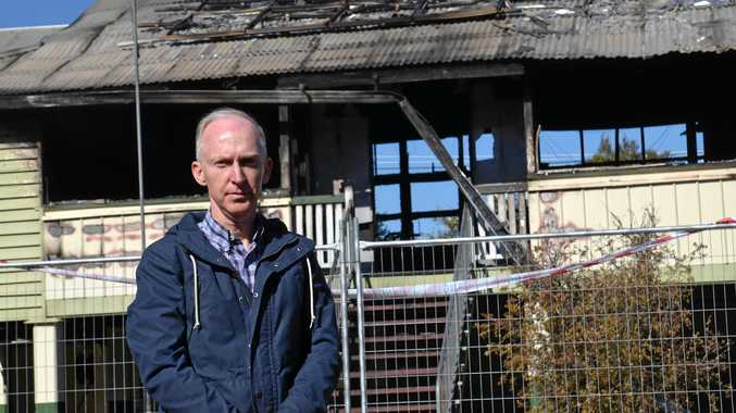 Former student shocked as authorities investigate fire