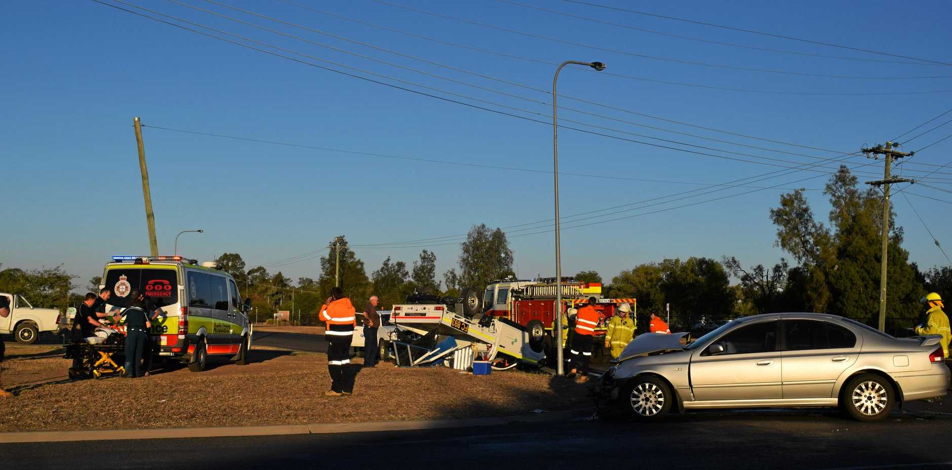 Accident at the corner of Price and Zeller St, Chinchilla.