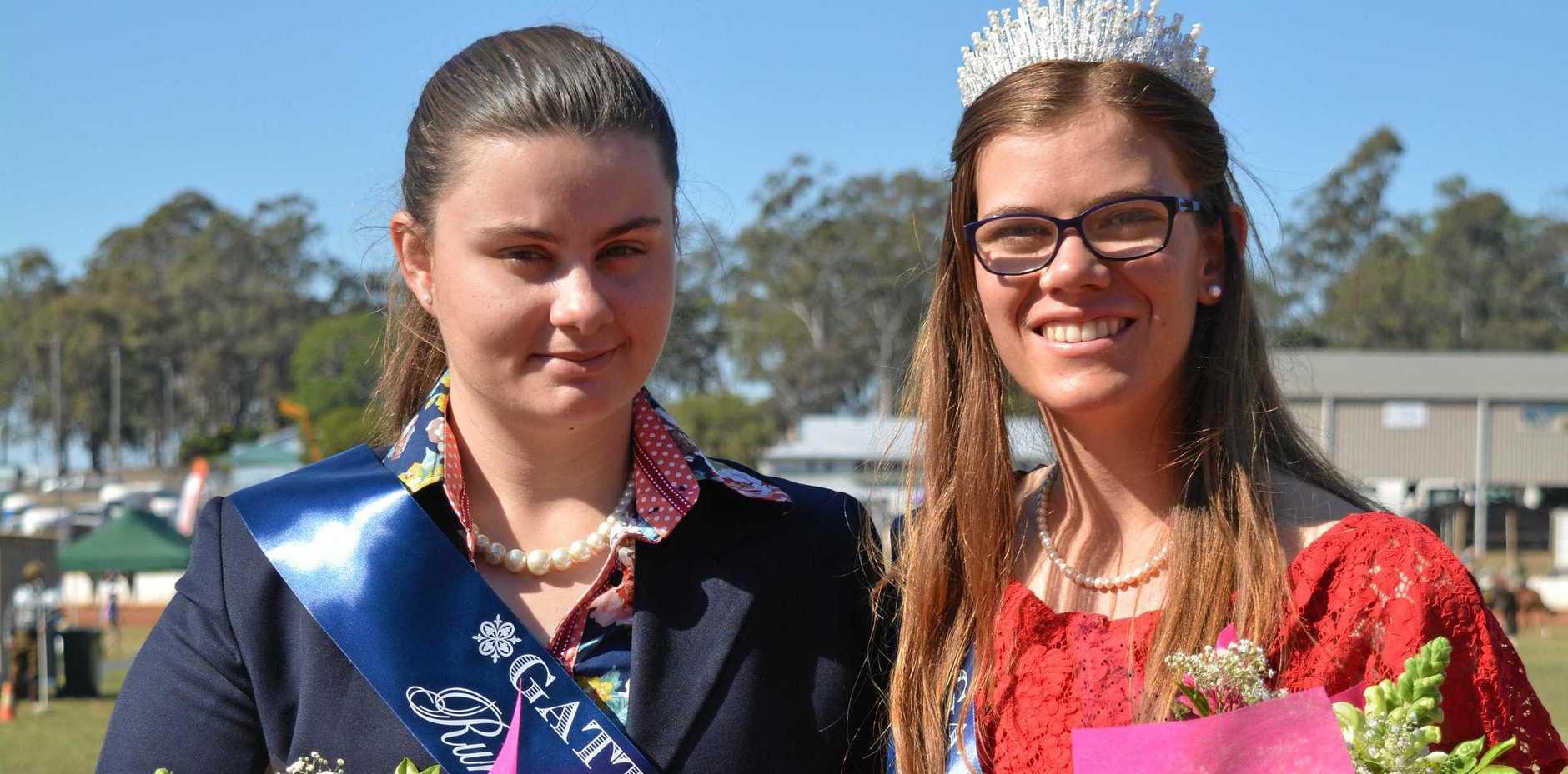 Gatton's 2019 Rural Ambassador Tenneal Prebble and Miss Show Girl Sarah Rose.