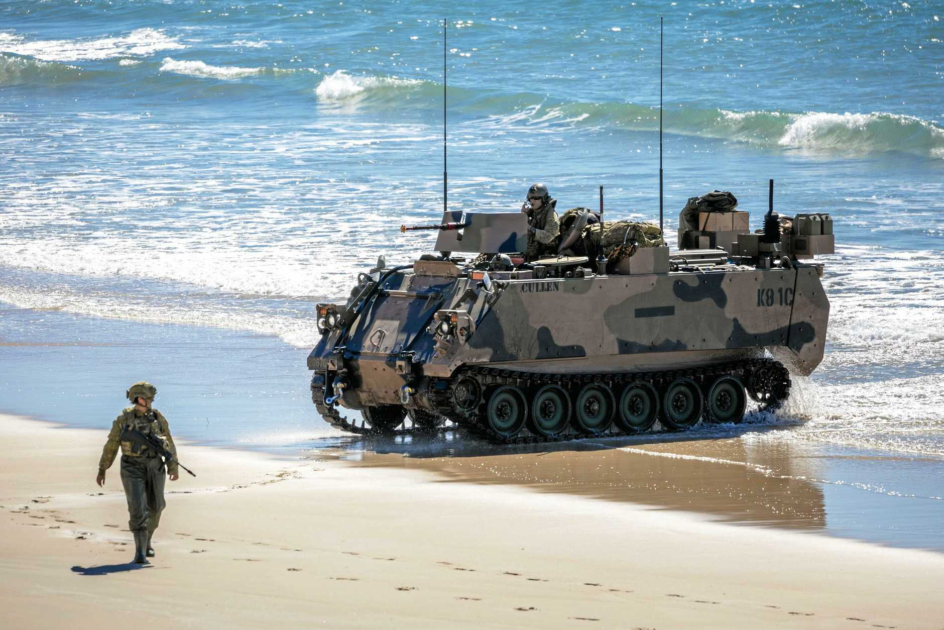 An example of the amphibious assault craft that will land on the beach at Bowen on Monday.