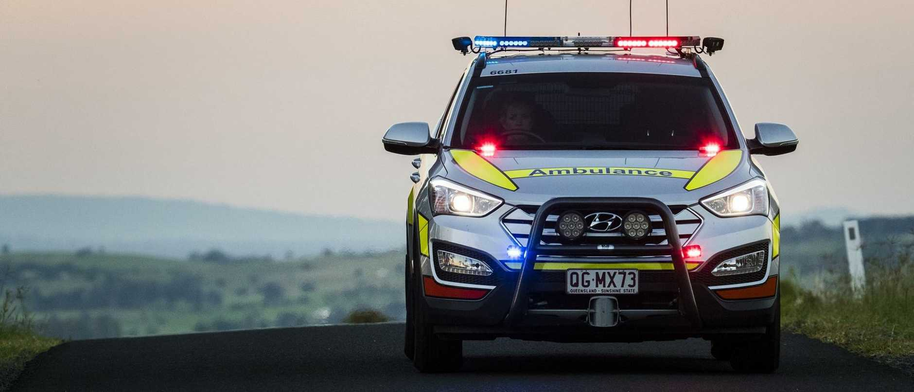 A motorbike rider has suffered serious arm injuries in a crash on the Gold Coast.