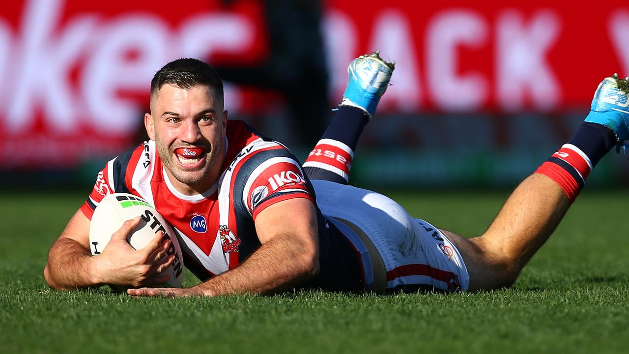 James Tedesco opened the scoring with a ripper. Picture: Jason McCawley/Getty Images