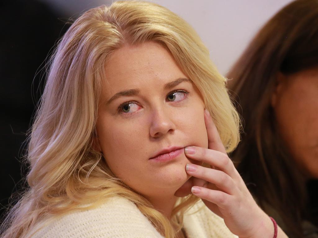 Australian Cassandra Sainsbury attends a court hearing in Bogota, Colombia. Picture: Vanessa Hunter